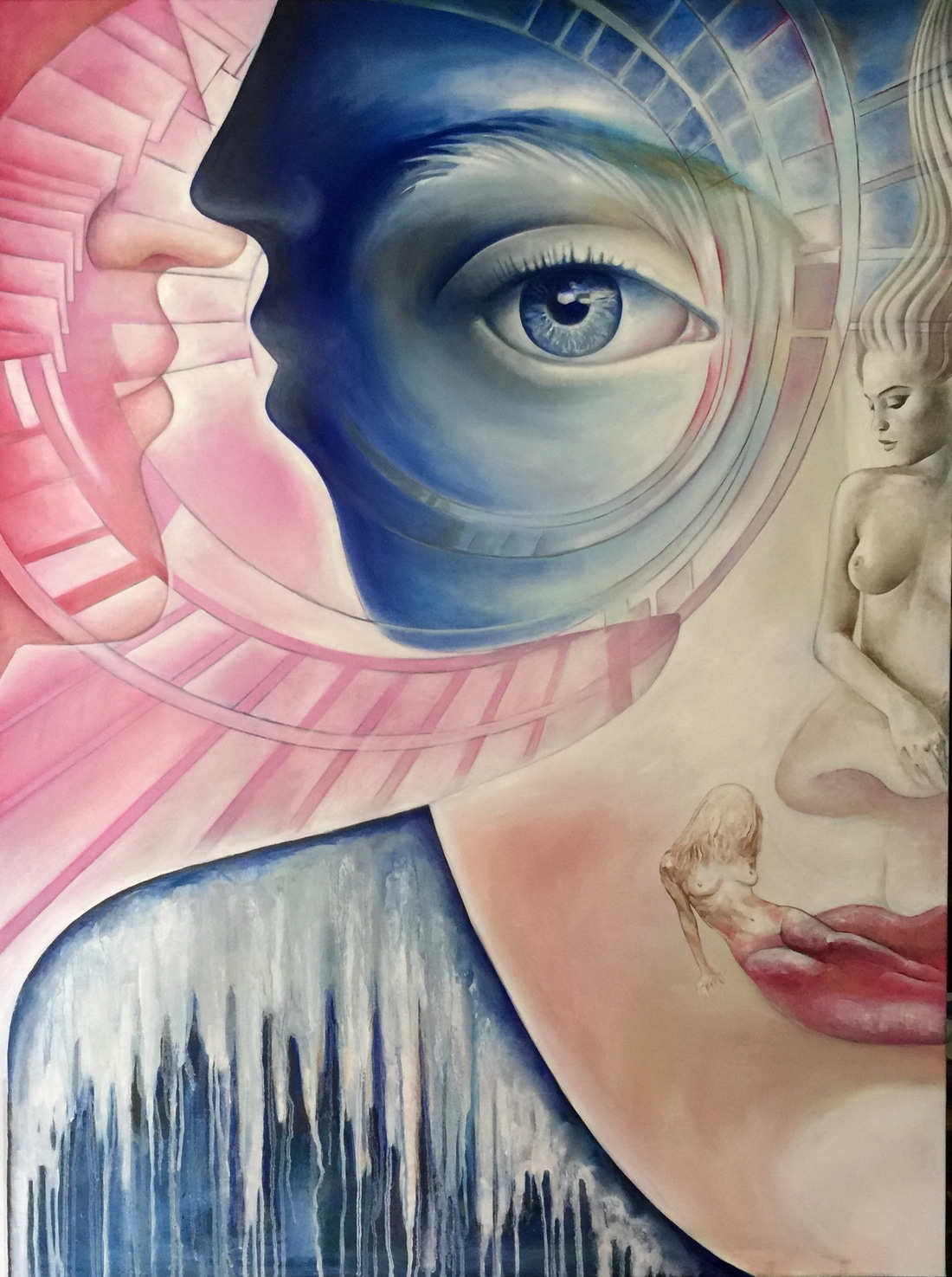 Andromeda 2 by Fatima Azimova - Oil on canvas 36x48 inches