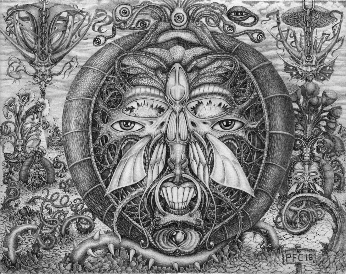 Seeds Of Insanity by Paulo Cunha - Black ballpoint pen 11