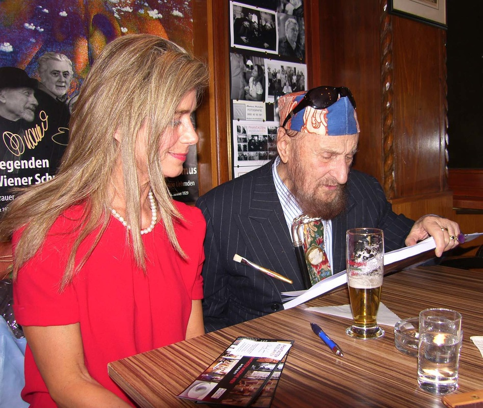Ernst Fuchs, February 2012 at the Cafe Palffy