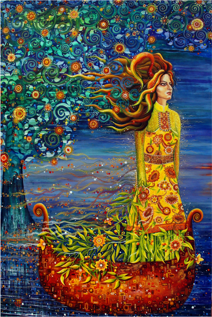 Ocean of World by SHIRIN BABAZADEH - Oil on canvas 150x100 cm
