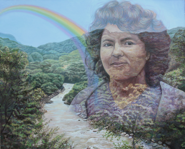 Berta de Honduras by Miguel Tio - Egg tempera and oil glazes on panel 24