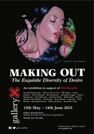 Making out - download the GalleryX exhibition poster