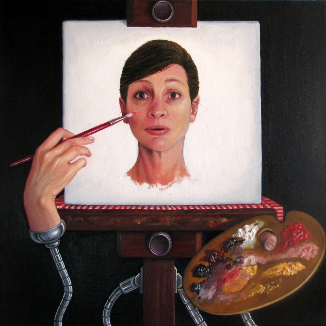 Slave to my Easel  by Cel Pallas-Hones