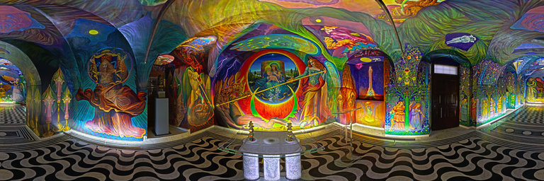The monumental work by Ernst Fuchs at the St. Egid Chapel